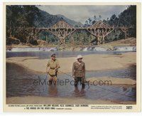 7b049 BRIDGE ON THE RIVER KWAI color 8x10 still '58 Alec Guinness & Sessue Hayakawa at the climax!