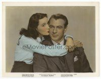 7b053 CASANOVA BROWN color 7.75x10 still '44 great lover Gary Cooper loves Teresa Wright!