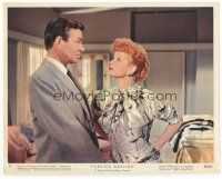 7b061 FOREVER DARLING color 8x10 still #8 '56 close up of Lucille Ball staring at James Mason!