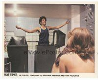 7b063 HOT TIMES color 8x10 still '74 William Mishkin, guy discovered hiding in girls' locker room!