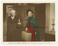 7b065 JANE EYRE color 8x10 still '44 scared Joan Fontaine arrives at Rochester's home!