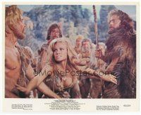 7b073 ONE MILLION YEARS B.C. color 8x10 still '66 sexiest Raquel Welch breaks up a fight!