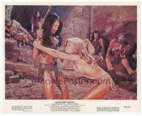 7b072 ONE MILLION YEARS B.C. color 8x10 still '66 sexy Raquel Welch and Martine Beswick fighting!