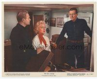 7b075 SEA CHASE color 8x10 still '55 sexy Lana Turner between John Wayne & Lyle Bettger!