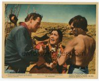 7b077 SEARCHERS color 8x10 still '56 John Ford, John Wayne & Jeff Hunter confront Indian woman!