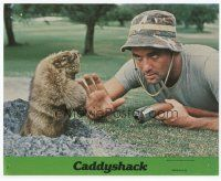 7b050 CADDYSHACK 8x10 mini LC #2 '80 best c/u of Bill Murray on golf course with hose & gopher!