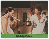 7b051 CADDYSHACK 8x10 mini LC #4 '80 Bill Murray & Chevy Chase share a monstrous joint!