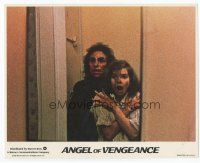 7b068 MS. .45 int'l 8x10 mini LC '81 Angel of Vengeance, Zoe Tamerlis scared of guy behind her!
