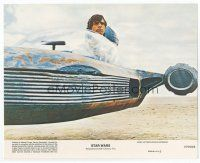 7b078 STAR WARS 8x10 mini LC '77 George Lucas classic, c/u of Mark Hamill in his landspeeder