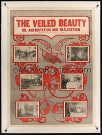 7k352 VEILED BEAUTY linen 1sh 1907 or Anticipation and Realization, one of the earlier one-sheets!