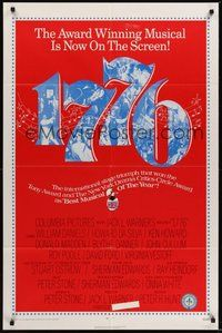 7r003 1776 1sh '72 William Daniels, the award winning historical musical comes to the screen!