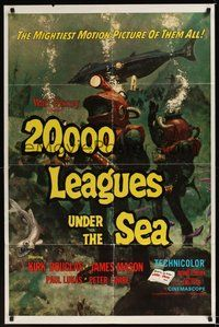 7r004 20,000 LEAGUES UNDER THE SEA 1sh R71 Jules Verne classic, wonderful art of deep sea divers!