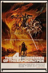 7r009 4 HORSEMEN OF THE APOCALYPSE style A 1sh '61 really cool artwork by Reynold Brown!