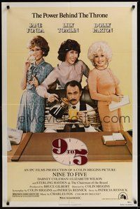 7r013 9 TO 5 1sh '80 great image of Dolly Parton, Jane Fonda, and Lily Tomlin!