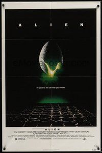 7r033 ALIEN 1sh '79 Ridley Scott outer space sci-fi monster classic, cool hatching egg image!