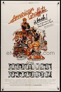 7r037 AMERICAN GRAFFITI 1sh R78 George Lucas teen classic, it was the time of your life!