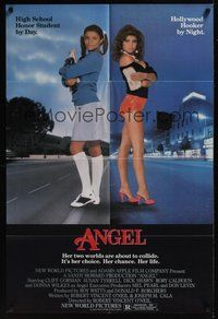 7r044 ANGEL 1sh '83 high school honor student by day, Hollywood hooker at night!