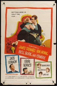 7r075 BELL, BOOK & CANDLE 1sh '58 James Stewart, sexiest witch Kim Novak, Jack Lemmon!