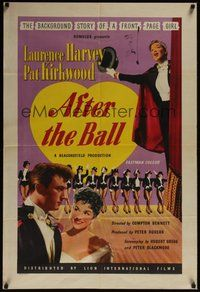 7r022 AFTER THE BALL English 1sh '57 Laurence Harvey, Pat Kirkwood, cool art of dancers!