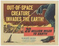 7s012 20 MILLION MILES TO EARTH TC '57 out-of-space creature invades the Earth, cool monster art!