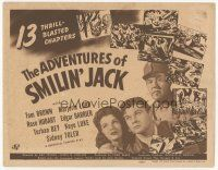 7s017 ADVENTURES OF SMILIN' JACK TC '42 Tom Brown fights the Germans & Japanese, Universal serial!