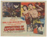 7s015 ADVENTURES OF CAPTAIN FABIAN TC '51 art of steroided Errol Flynn & sexy Micheline Prelle!