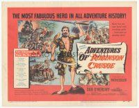 7s016 ADVENTURES OF ROBINSON CRUSOE TC '54 Luis Bunuel, art of Dan O'Herlihy surrounded by natives!