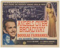 7s022 ANGELS OVER BROADWAY TC '40 sexy full-length Rita Hayworth, Douglas Fairbanks Jr.