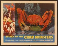 7s008 ATTACK OF THE CRAB MONSTERS Fantasy #9 LC '90s best c/u of man in monster's pincers!