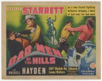 7s027 BAD MEN OF THE HILLS TC '42 Charles Starrett & Russell Hayden are bad news for bad men!
