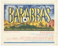 7s028 BARABBAS TC '62 Richard Fleischer, cool artwork of Anthony Quinn & Silvana Mangano!