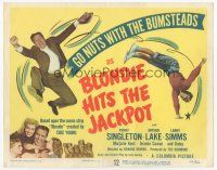 7s032 BLONDIE HITS THE JACKPOT TC '49 pretty Penny Singleton & goofy Arthur Lake!