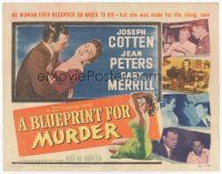 7s034 BLUEPRINT FOR MURDER TC '53 no one deserved to die more than sexy bad Jean Peters!
