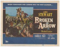 7s036 BROKEN ARROW TC '50 cool western art of James Stewart, rescuing sexy Debra Paget!