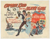 7s038 CAPTAIN KIDD & THE SLAVE GIRL TC '54 touch Eva Gabor & Tony Dexter will make you shark bait!