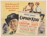 7s037 CAPTAIN KIDD TC '45 pirate Charles Laughton, all spectacle & romance of the seas!