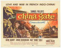 7s039 CHINA GATE TC '57 Samuel Fuller, Angie Dickinson, Gene Barry, Nat King Cole!