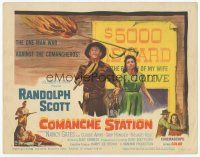 7s040 COMANCHE STATION TC '60 Randolph Scott, Nancy Gates, Budd Boetticher, wanted poster design!