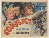 7s042 CONFLICT TC '36 John Wayne romancing & punching, from the novel by Jack London!