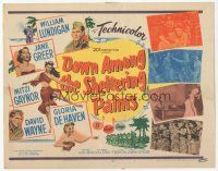 7s053 DOWN AMONG THE SHELTERING PALMS TC '53 sexy Jane Greer, Mitzi Gaynor & Gloria De Haven!