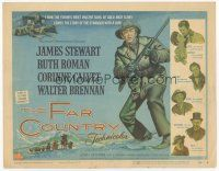 7s055 FAR COUNTRY TC '55 cool art of James Stewart with rifle, directed by Anthony Mann!