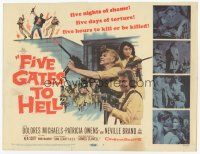 7s057 FIVE GATES TO HELL TC '59 James Clavell, Dolores Michaels, Patricia Owens, girls with guns!