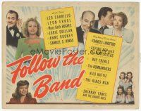 7s061 FOLLOW THE BAND TC '43 Mary Beth Hughes, Frances Langford, Leon Errol, Leo Carrillo