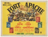 7s062 FORT APACHE TC '48 John Wayne, Henry Fonda, Shirley Temple, Victor McLaglen, plus cool art!