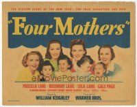 7s063 FOUR MOTHERS TC '41 Priscilla, Rosemary & Lola Lane plus Gale Page with babies!
