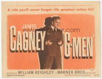 7s064 G-MEN TC R49 full-length James Cagney holding two guns in his greatest action hit!