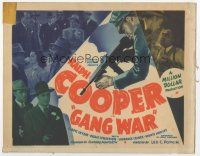 7s065 GANG WAR TC '40 Ralph Cooper stars in this ultra rare all-black gangster movie!