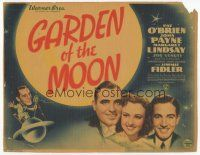 7s066 GARDEN OF THE MOON TC '38 Pat O'Brien, John Payne, Margaret Lindsay, Busby Berkeley!