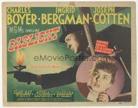 7s067 GASLIGHT TC '44 classic suspense thriller starring Ingrid Bergman & Charles Boyer!