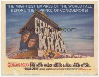 7s069 GENGHIS KHAN TC '65 Omar Sharif as the Mongolian Prince of Conquerors, Stephen Boyd!